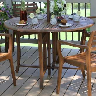 Beachcrest Home Roseland Folding Wooden Dining Table