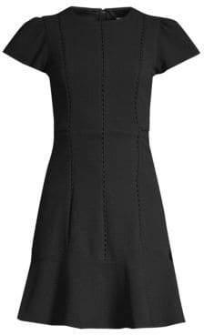 Rebecca Taylor Stretch Texture A-Line Dress