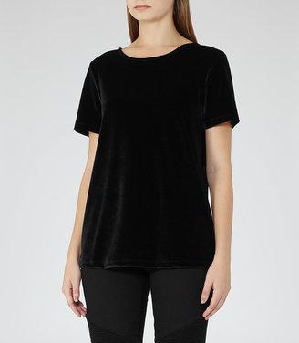Brodie Velvet T-Shirt $120 thestylecure.com