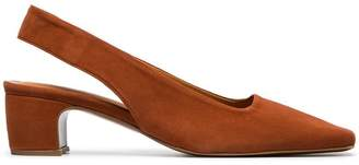 By Far Danielle 45 slingback suede pumps