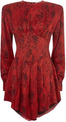 Alessandra Rich Leopard Mini Dress