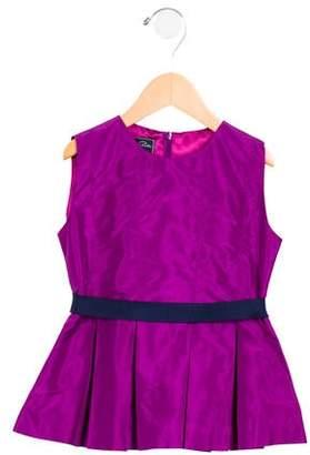 Oscar de la Renta Girls' Silk Pleated Top w/ Tags