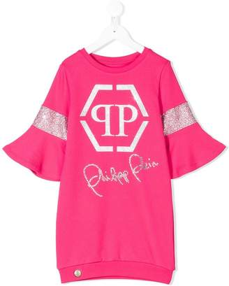 Philipp Plein Junior printed sweatshirt dress
