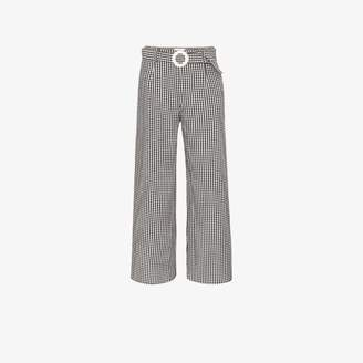 Solid & Striped gingham wide leg trousers