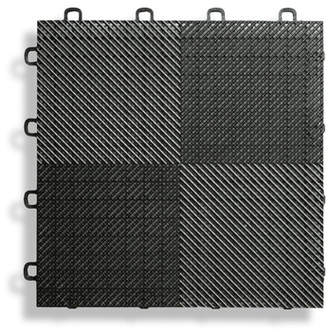 BlockTile 12 x 12 Deck and Patio Flooring Tile in Black