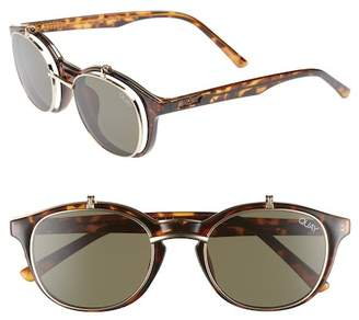 Quay Penny Royal 55mm Flip-Up Round Sunglasses