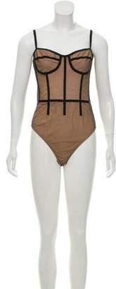 Cushnie et Ochs Silk Mina Bodysuit w/ Tags