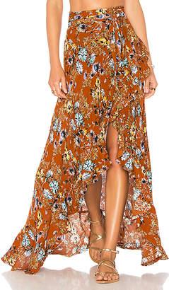 Blue Life Aura Wrap Skirt
