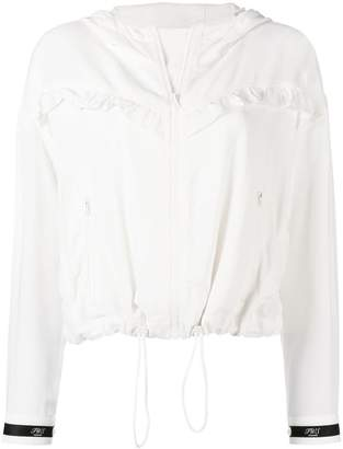 Twin-Set ruffled bomber jacket