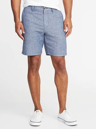 Old Navy Ultimate Slim Built-In Flex Linen-Blend Shorts for Men - 8-inch inseam