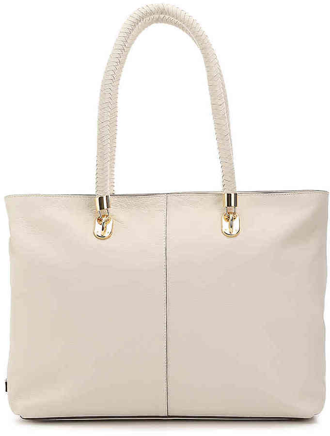 Cole Haan  Women's Benson Zip Leather Tote -Off White