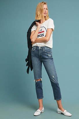 Anthropologie Current/Elliott Vintage Ultra High-Rise Cropped Slim Jeans