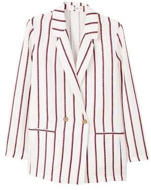 MANGO Unstructured linen blazer