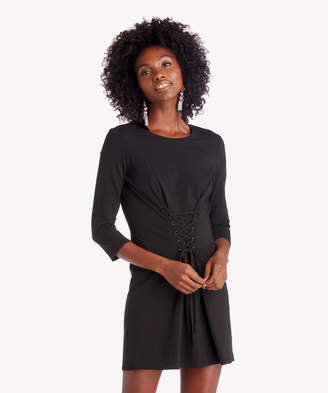 1 STATE Women's Knit Dress With Corset Lace Up Detail In Color: Rich Black Size XS From Sole Society
