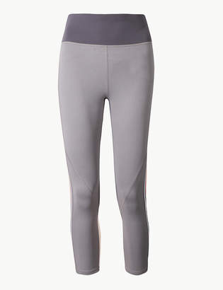 Marks and Spencer Quick Dry Side Stripe Cropped Sport Leggings