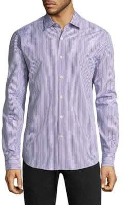 Salvatore Ferragamo Stripe Cotton Button-Down Shirt