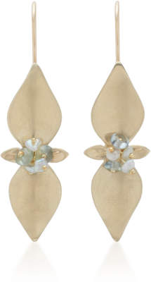 Annette Ferdinandsen Mint 14K Gold And Pearl Drop Earrings