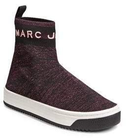 Marc Jacobs Metallic Logo Dart Sock Sneakers