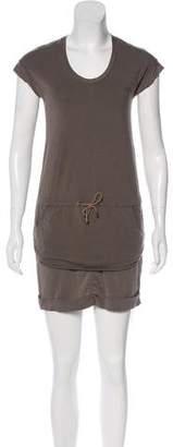 Brunello Cucinelli Silk-Trimmed Mini Dress