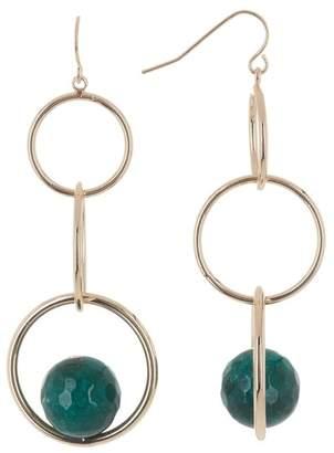Halogen Semiprecious Stone & Chain Link Linear Drop Earrings