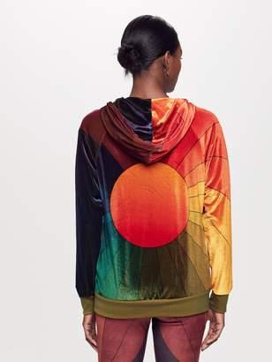Aviator Nation Sunburst Zip Hoodie - Rainbow