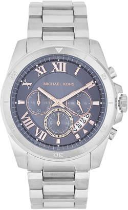 Michael Kors MK8609 Grey & Silver-Tone Brecken Watch
