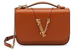 Versace Women's Virtus Smooth Leather Medium Shoulder Bag