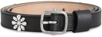 Burberry Crystal Daisy Leather Belt