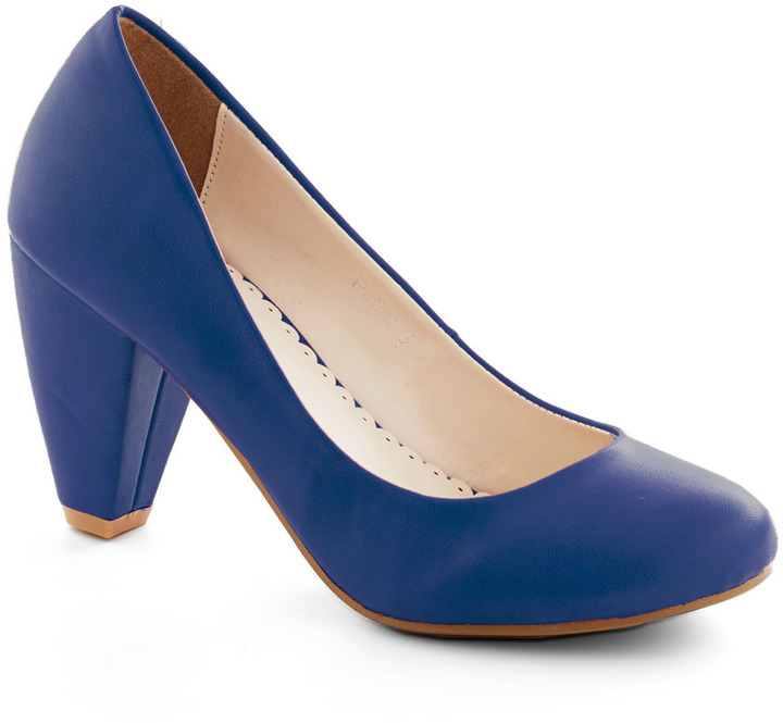 Solid Choice Heel in Blue