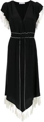DAY Birger et Mikkelsen Nk fringed silk dress