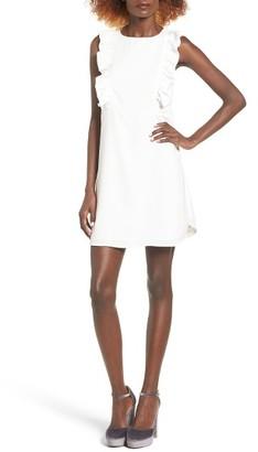Women's Storee Ruffle Front Shift Dress $65 thestylecure.com