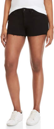 Derek Lam 10 Crosby Black Quinn Mid-Rise Denim Shorts
