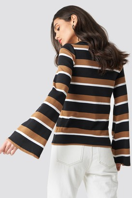 Na Kd Trend Wide Sleeve Striped Top