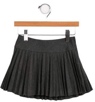 Ralph Lauren Girls' Pleated Wool Skirt