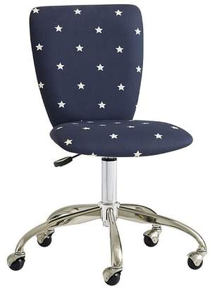 Pottery Barn Kids Upholstered Task Square Back, Brushed Nickel, Glow in the Dark Navy Star