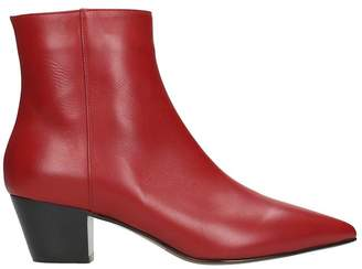 L'Autre Chose Red Calf Leather Ankle Boots