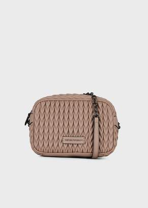 Emporio Armani Mini-Bag In Quilted Faux Nappa Leather With Teardrop Motif