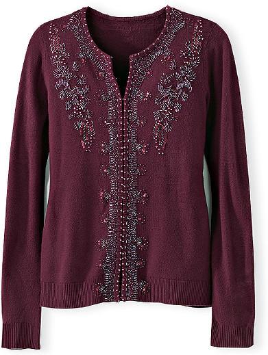 Embellished Cardigan Sweater
