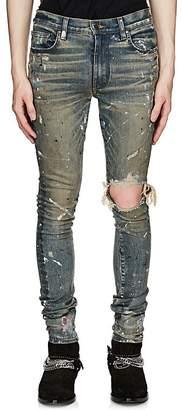 Amiri Men's Broken Paint-Splatter Slim Jeans