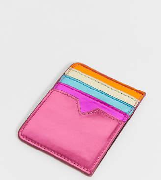 Skinnydip metallic rainbow card holder