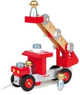 Janod Build-It-Yourself Fire Truck