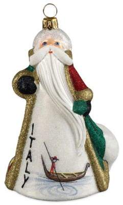 Glitterazzi Joy to the World Collectibles International Santa Italy Christmas Ornament
