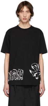 Comme des Garcons Homme Homme Black Jersey Graphic T-Shirt