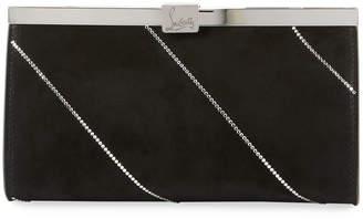 Christian Louboutin Palmette Small Suede Clutch Bag