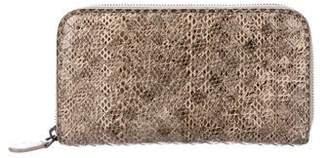 Bottega Veneta Intrecciato Snakeskin Wallet