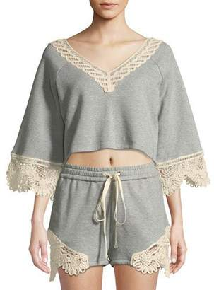 Jonathan Simkhai Crochet Casuals V-Neck Top