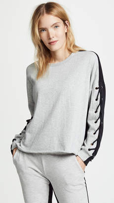 Generation Love Alexis Lace Up Sweatshirt