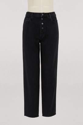 J Brand Super high-waisted button jeans