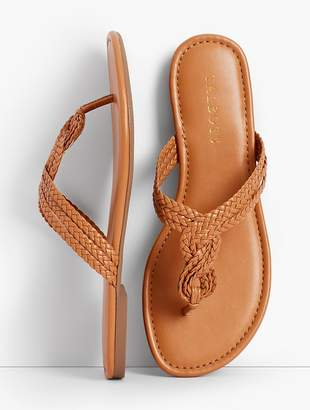 Talbots Cece Braided Thong Sandals - Faux Nappa