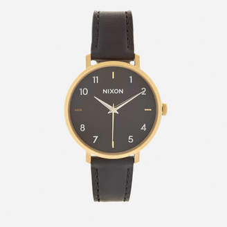 Nixon Women's The Arrow Leather Watch - Gold/Black
